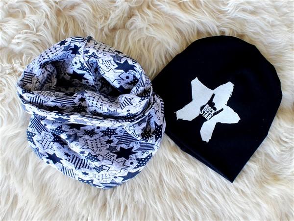 Снуд+шапка Звезды