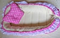 Гнездышки для новорожденного Розовый горошек