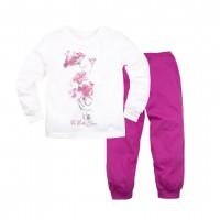 Пижама джемпер и брюки молочный 356Д-1121п