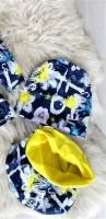 Снуд+шапка Цветы цвет №2