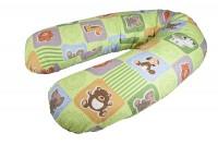 Подушка для беременных и кормления БУМЕРАНГ Игрушки на зеленом